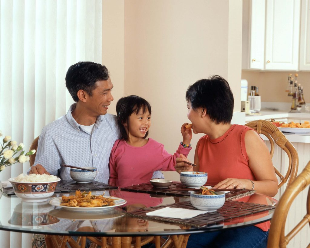 Grandparents with grandchildren at the dinner table, how to protect your multi generational wealth